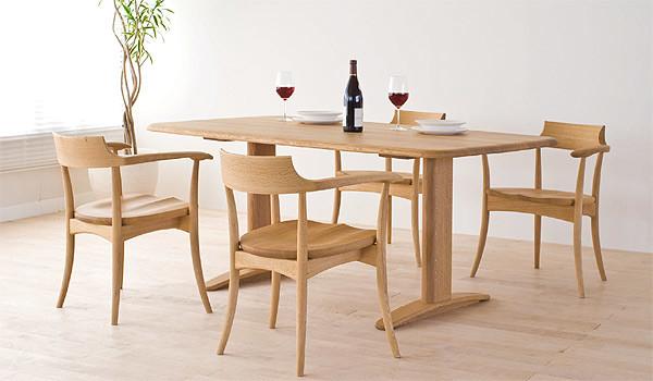 ダイニングテーブル-侭-飛騨産業-オーダーテーブル-東京デザインセンター